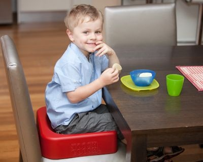 Toosh Coosh - It's a family mealtime revolution! More than a booster seat this innovative new product provides juuust the right amount of height and support to assist children 3-8yrs to sit up at the dinner table so now everyone can enjoy family mealtimes. Toosh Coosh is the portable practical solution - booster seats are for babies but kids love Toosh Coosh!