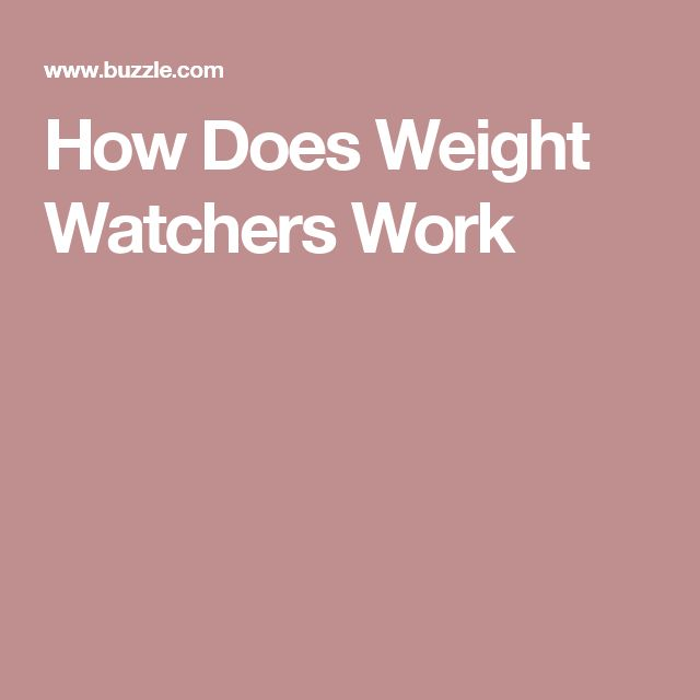How Does Weight Watchers Work