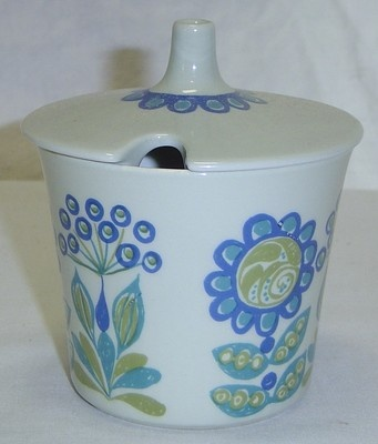 Vintage Figgjo Flint Turi Design Tor Viking Norway Sugar Bowl Jam Jar w/ Lid