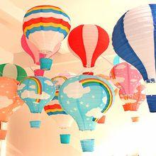 12 ''30 см Радуга Воздушный Шар Бумажный Фонарь Дети Birthday Party Свадебные Украшения 22 Цветов для выбора Бесплатная доставка 1 шт.(China (Mainland))