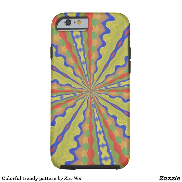 Colorful trendy pattern tough iPhone 6 case