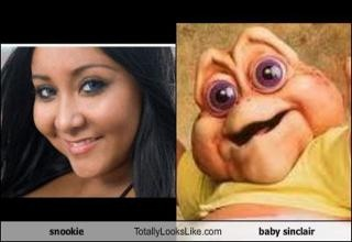 LMFAO!  Almost PISSED my PANTS: Funny Celebrity, Funny Pictures, Funny Stuff, Dinosaurs, Funniest Pictures, Baby Sinclair, Snooki, So Funny, Looks Alike