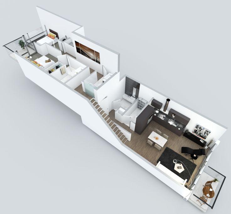 Modern Architecture House Floor Plans 98 best 3d floor plans images on pinterest | bedroom floor plans