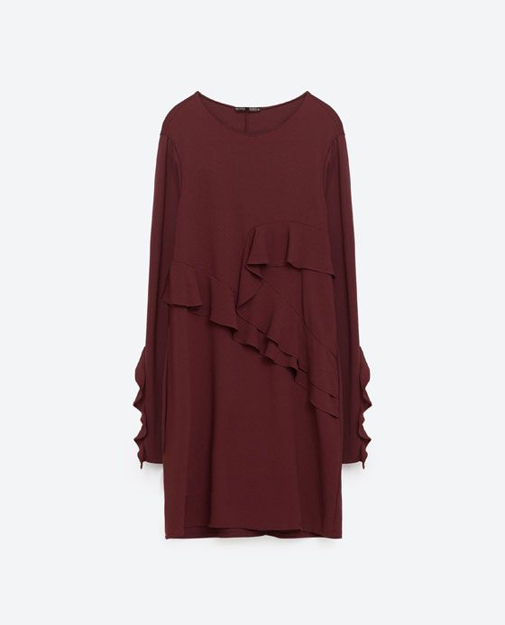 Image 8 of DRESS WITH FRILLED SLEEVE from Zara