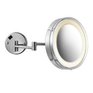 Electric Mirror EMHL10-HWCH CH-Polished Chrome Bathroom Fixtures 3X Magnifying Single Sided Wall Lighted Makeup Mirror Electric Mirror,http://www.amazon.com/dp/B0054GGT46/ref=cm_sw_r_pi_dp_vvPatb0HSW9HMPFK