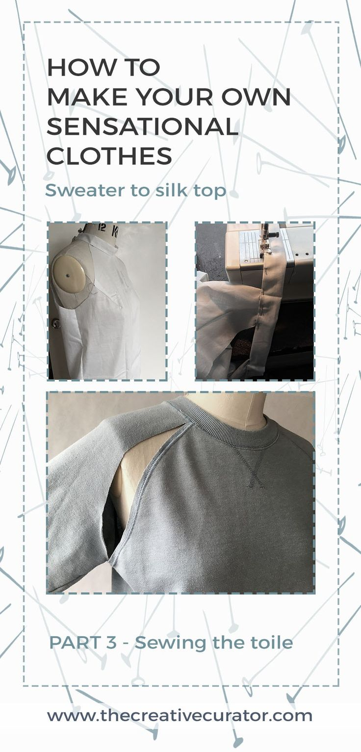 Sewing beginners - CLICK THROUGH to learn how to make your own sensational clothes! This third part in my 'how to' tutorial of A Jumper to Top, show the muslin making process.