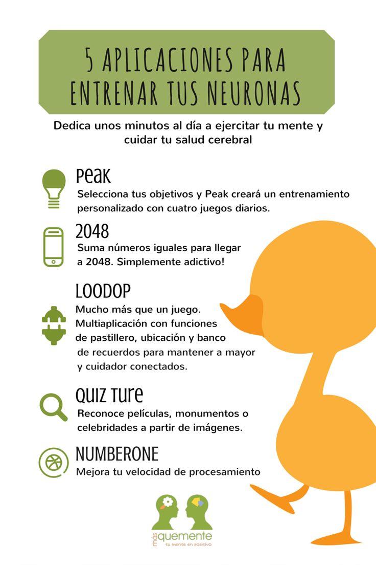 5 aplicaciones para el entrenamiento cerebral. Infografía