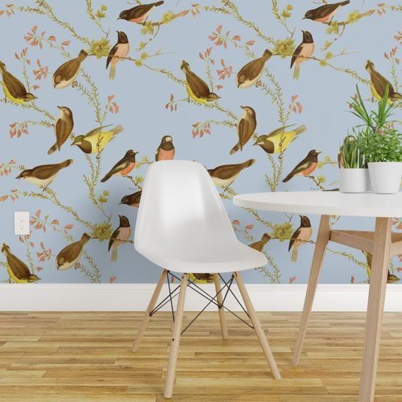 Bird Wallpaper Birds Of Australia Versailles By Etsy Wallpaper Roll Australia Wallpaper Custom Wall Stickers