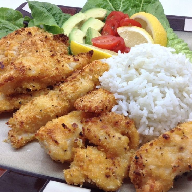 This simple recipe for crispy panko baked fish strips for Crispy baked whiting fish recipes