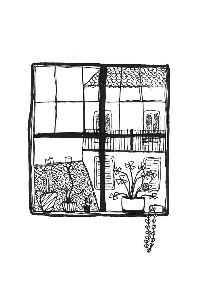 Cute illustration, little window artwork, £4-£7