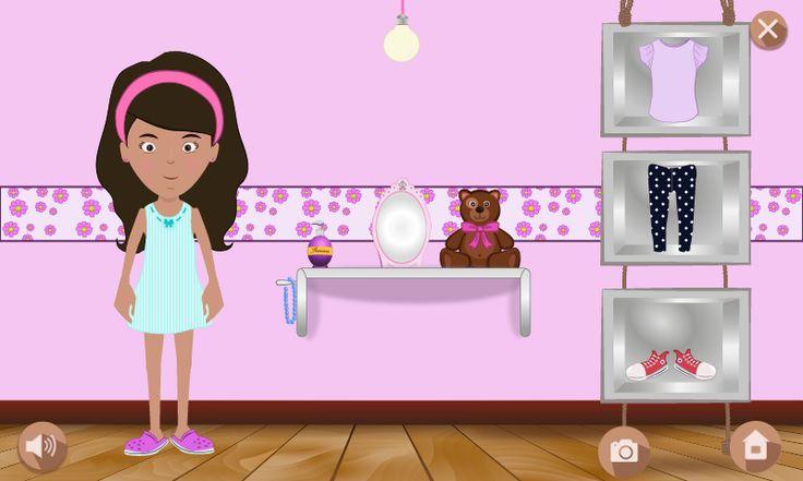 Selección de ropa y personalización de estas. #create #creativity #design #kids #game #online #fashion #innovation