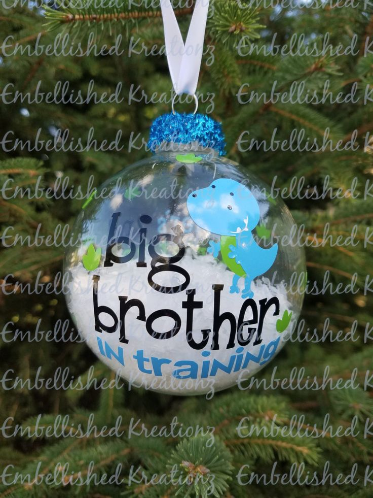 Big Brother Christmas Ornament Part - 31: Big Brother/u0027Big Brother In Trainingu0027 Christmas 2016 Ornament/Christmas  Announcement By EmbellisheDKreationz On Etsy