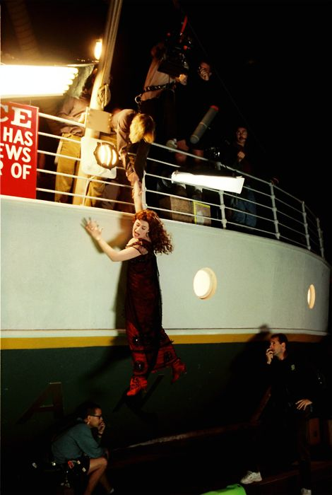 Titanic behind the scenes. Wait, so you mean they were NOT on a real ship? This is awkward......
