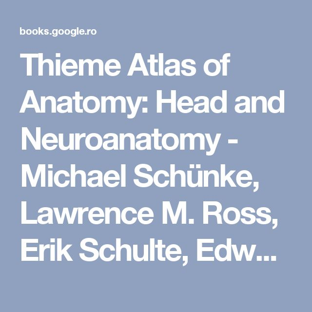 Thieme Atlas of Anatomy: Head and Neuroanatomy - Michael Schünke, Lawrence M. Ross, Erik Schulte, Edward D. Lamperti, Udo Schumacher - Google Books