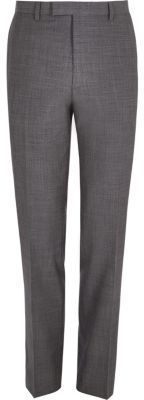 River Island Mens Grey slim fit suit pants