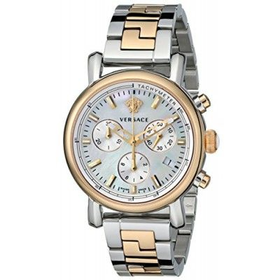 WOMEN`S WATCHES, Versace, Versace Women's VLB090014 Day Glam Two-Tone Stainless Steel Watch with Link Bracelet
