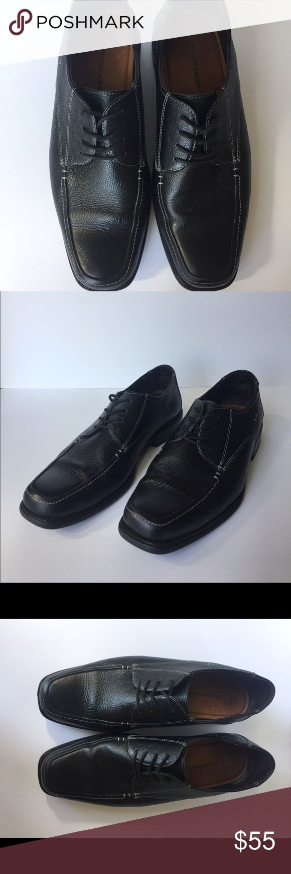 EUC Johnston & Murphy Black Dress Shoes These shoes have only been worn a few times. Excellent condition. They feature soft tumbled leather, lightweight construction, sheepskin lining, J&M Flex outsold.  👟👔👞👗👛👠👙👕Bundle & Save 20% Johnston & Murphy Shoes