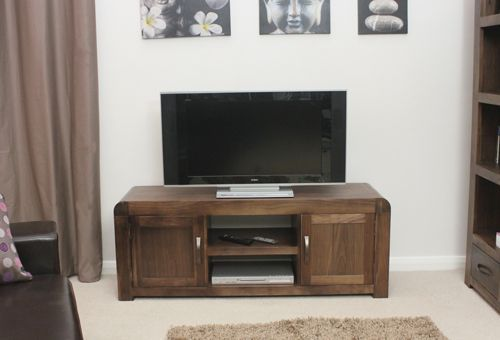 Shiro Walnut Widescreen Television Cabinet #wood #furniture #livingroom #lounge #bedroom #office #study #hallway #modern #contemporary #minimalist #interior #home #decor #interiorinspiration #television #cabinet #storage