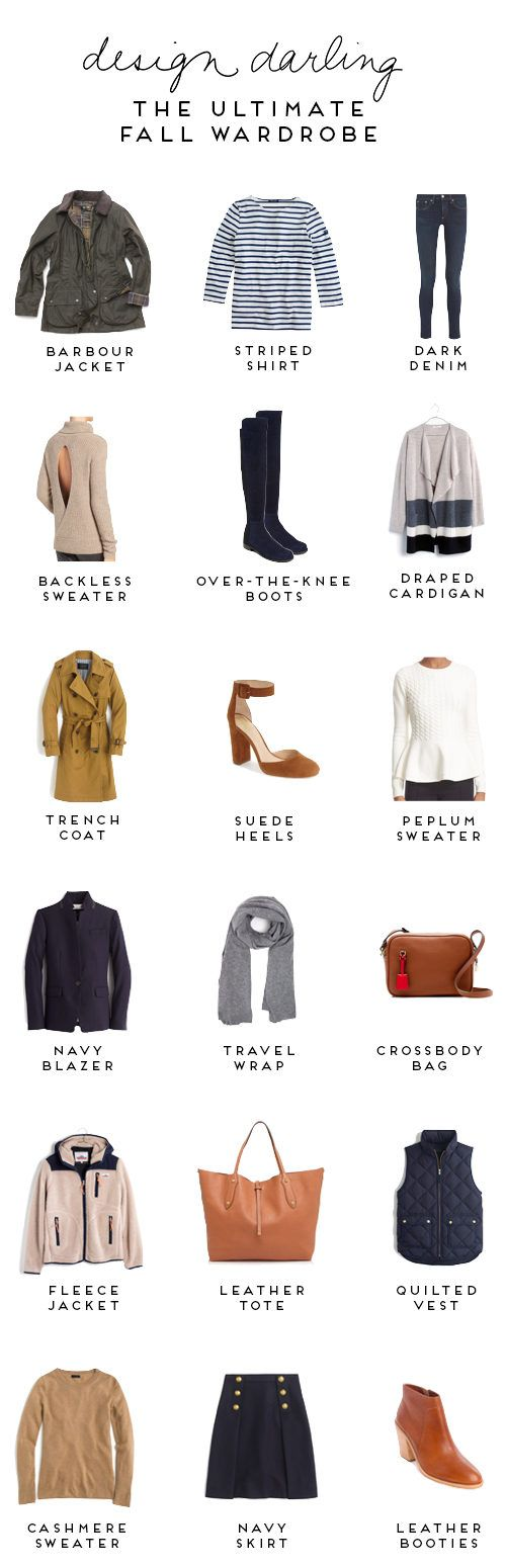 THE ULTIMATE FALL WARDROBE - Design Darling