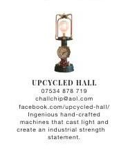 Upcycled Hall | Warehouse Home | hand crafted | Machines | Light | Statement | Industrial #ClippedOnIssuu from Warehouse home Issue Two