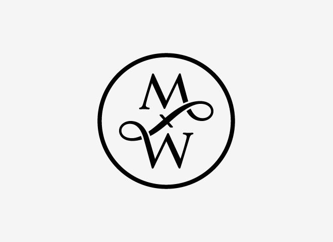 'My father's wardrobe' #fashion #logo #lettering by Moker Ontwerp