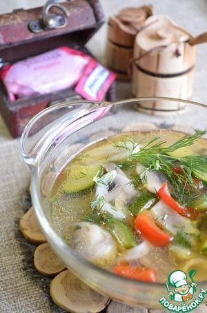 Густой суп из фасолевой лапши