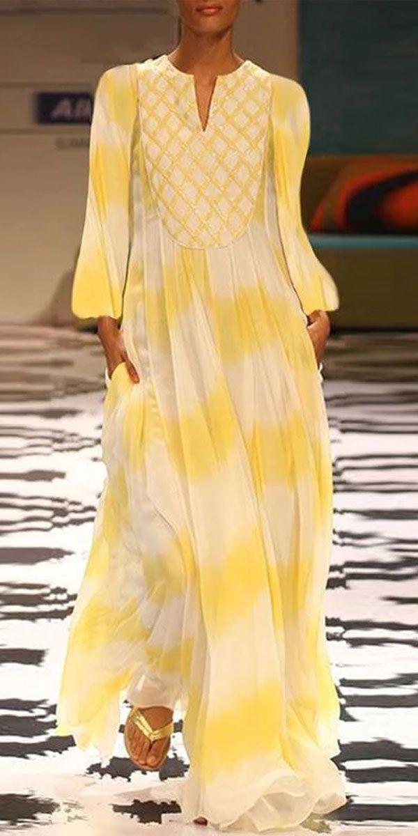 Printed Maxi Dress 8