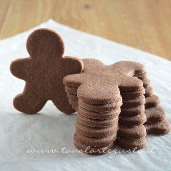 Biscotti di pasta frolla al cacao - Ricetta Pasta frolla al cacao