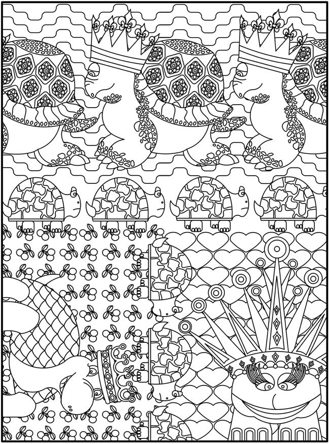 Welcome To Dover Publications Creative Haven Awesome Animal Designs Coloring Book
