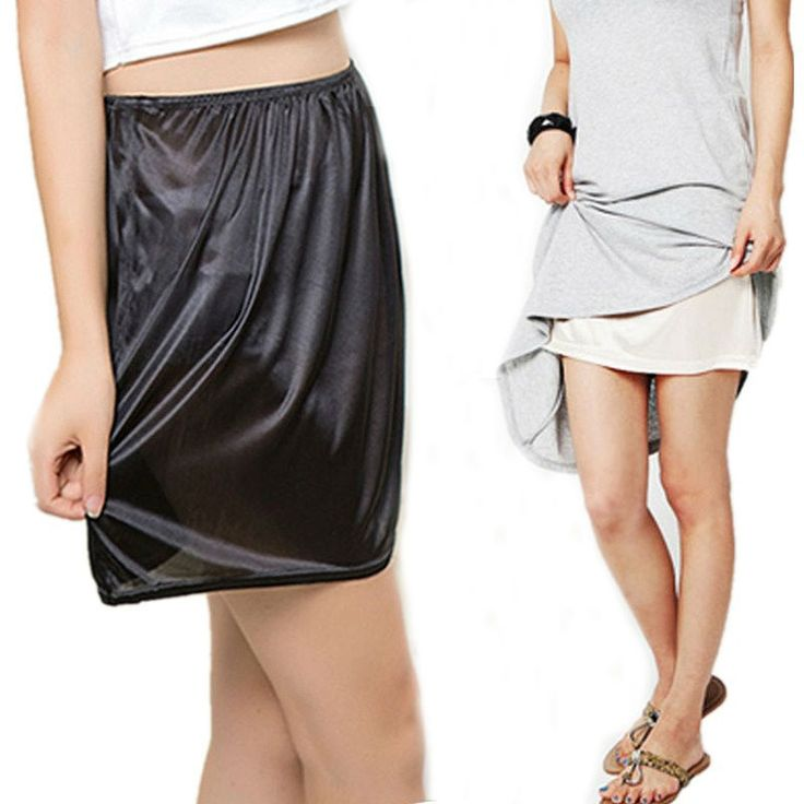 3.51$  Buy here - Summer Slips Woman Casual Homme Pure Silk Mini Skirts Sexy Lady Underdress Vestidos Women Loose Half Slips Petticoat underskirt   #shopstyle