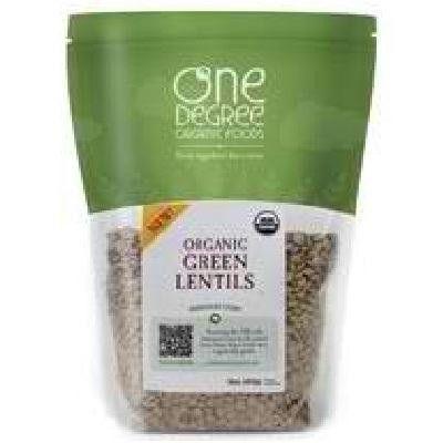 One Degree Organic Foods Green Lentils (6x16oz )