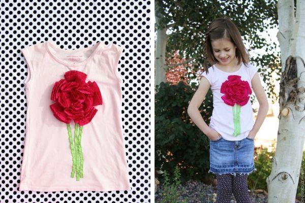Декорируем кофточку для девочки. Цветочная аппликация | Baby journal