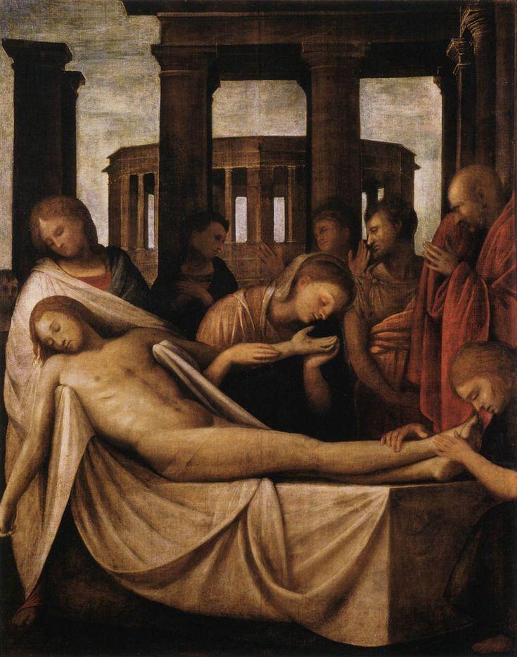Compianto sul Cristo morto - Bramantino, presso la Pinacoteca del Castello Sforzesco, Milano