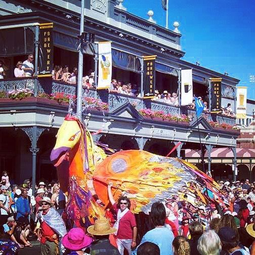 Fun and frivolity at the Fremantle Street Parade, marking the end of the Fremantle Festival.