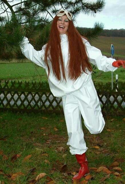 White rain suit