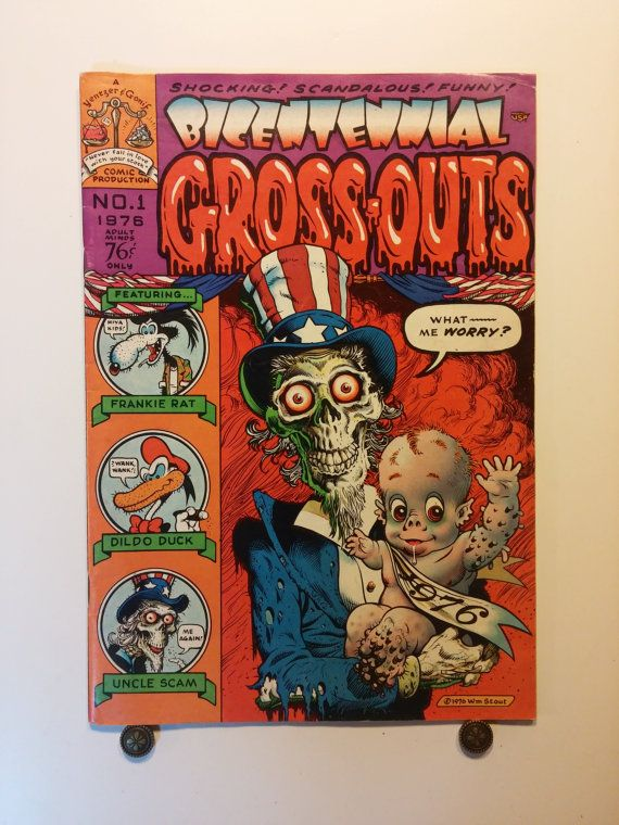 1976 Bicentennial Gross-Outs, No. 1 - 0.76 cover price, Yentzer and Gonif, Adult, Underground Comic - 9+ Near Mint