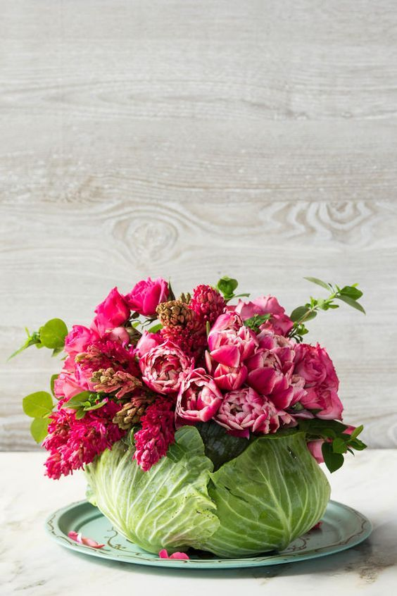 Cabbage floral centerpiece