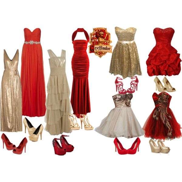 Gryffindor- Yule Ball - Polyvore