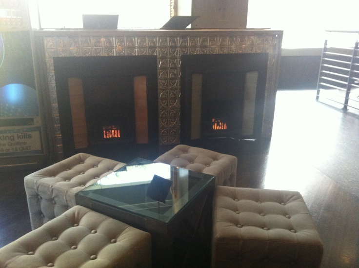Fire place seating at Fathers Office