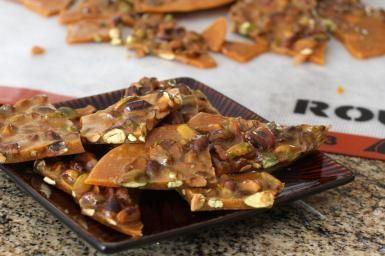 Nutty, Buttery Pistachio Brittle: Pistachio Brittle