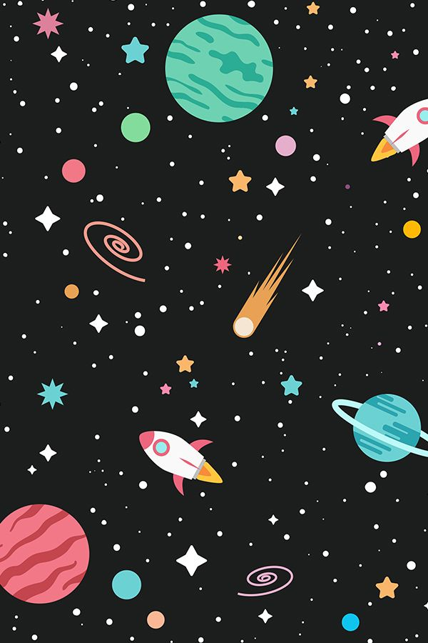 Outer Space Pattern Space Painting Outer Space Wallpaper Space Art
