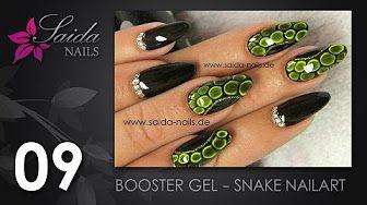 Booster Gel - Snake Skin Nailart (Nailart leicht gemalt | Saida Nails) - YouTube