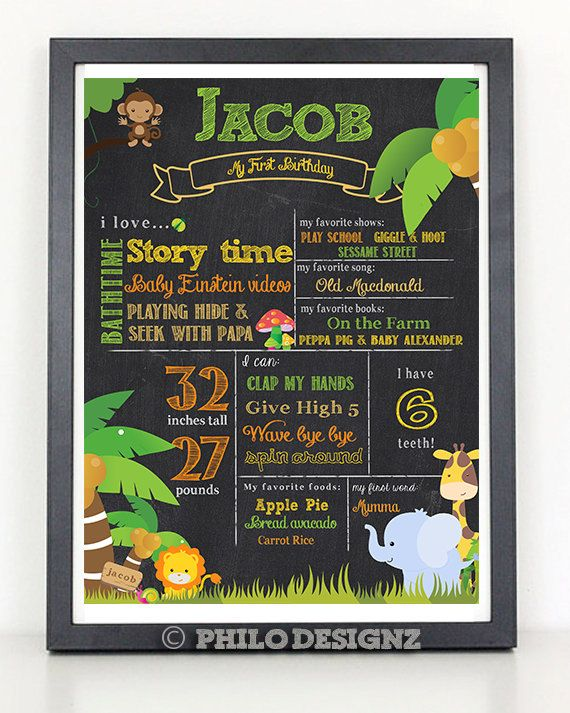 Make your childs day special with this Chalkboard Sign .Poster is available is 4 different sizes. Text can be changed according to the requirement.