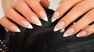 short stiletto nails with french