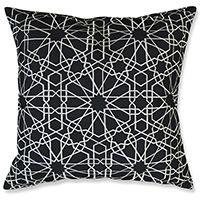 Tile Embroidery Black Cushion 45cm
