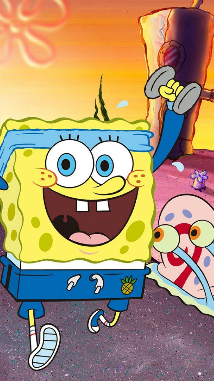 Spongebob and Gary fitness phone wallpaper background # ...