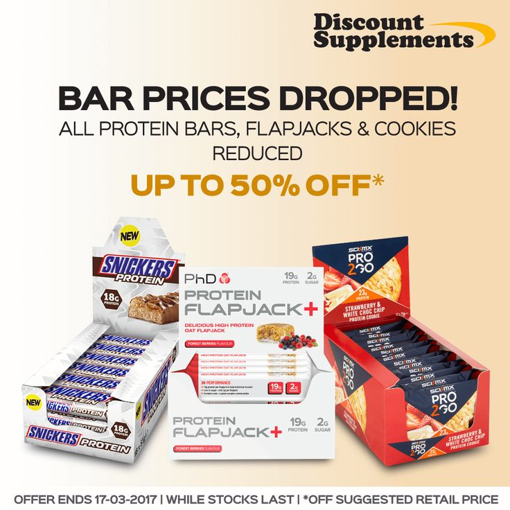 All PROTEIN BARS reduced - 80 killer deals inc BOGOFs… http://www.discount-supplements.co.uk/protein-bar-sale