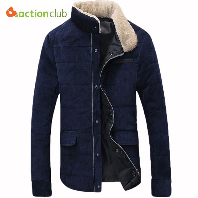 Fair price ACTIONCLUB Hot-selling Plus Size Fleece Corduroy Wadded Jacket Men Cotton Filling Thickening Wadded Coat Men Winter Jacket just only $29.99 with free shipping worldwide  #jacketscoatsformen Plese click on picture to see our special price for you