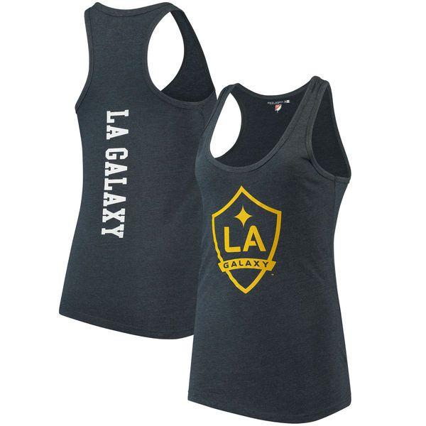 LA Galaxy 5th & Ocean by New Era Women's Tri-Blend Racerback Tank Top - Navy