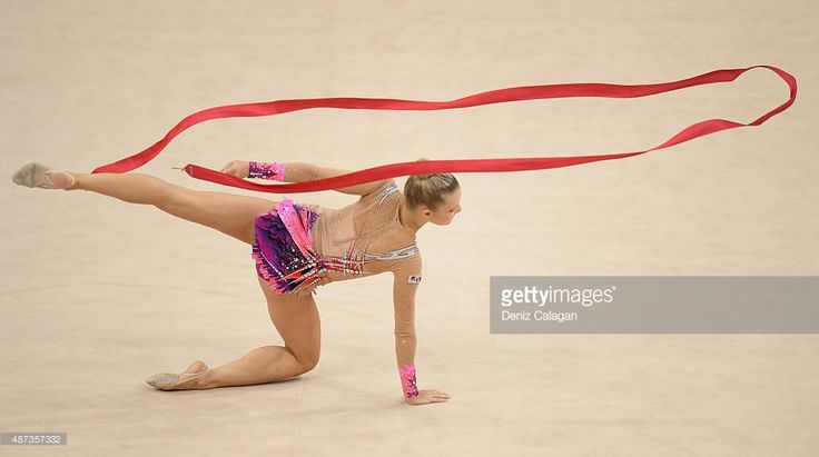 Laura Jung of Germany competes during the 34th Rhythmic Gymnastics World Championships on September 9, 2015 in Stuttgart, Germany.